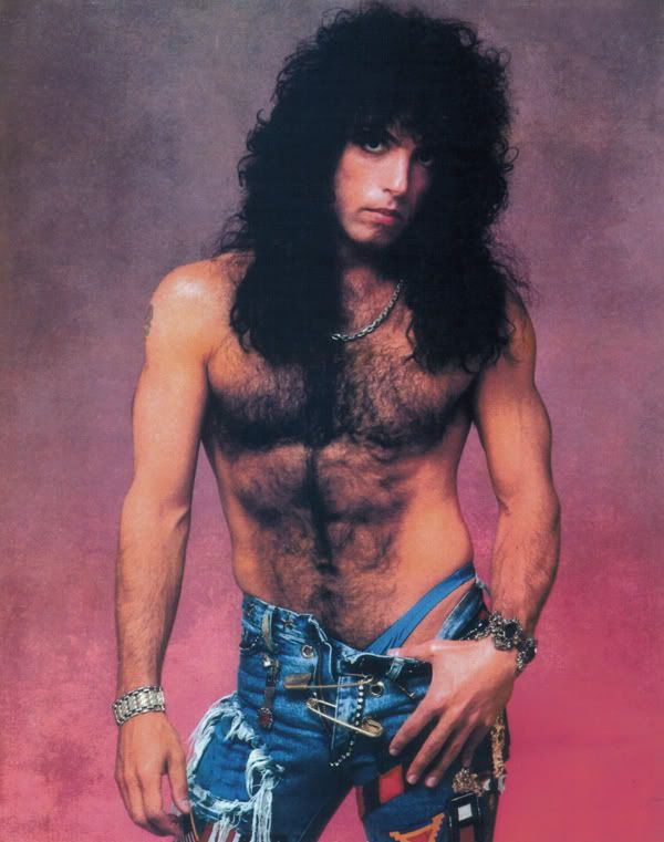 Paul Stanley's chest is so hairy it almost counts as a textile.
