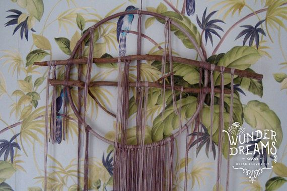 Maka Bohemian Soft Thread Dreamcatcher by Wunderdreams on Etsy