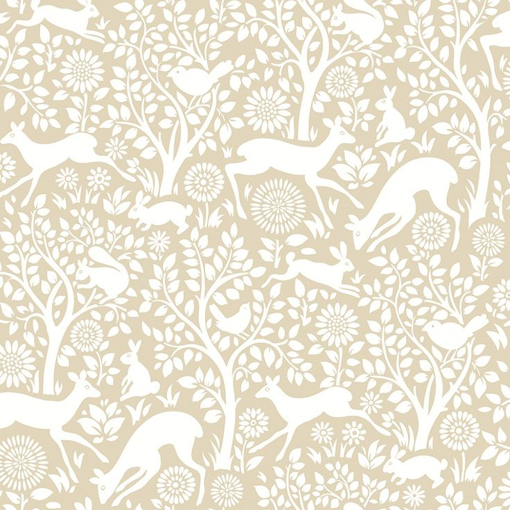 fine decor a street print woodland meadow wallpaper, woodland animals effect paste the wall wallpaper, animal effect wallpaper