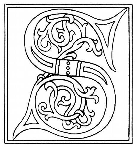 Use for illuminated letters  Every letter of the alphabet