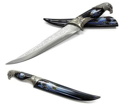 "13"" Eagle Dagger Knife With Hard Sheath 