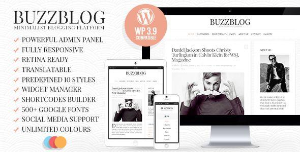BuzzBlog - Clean & Personal WordPress Blog Theme  - Personal Blog / Magazine