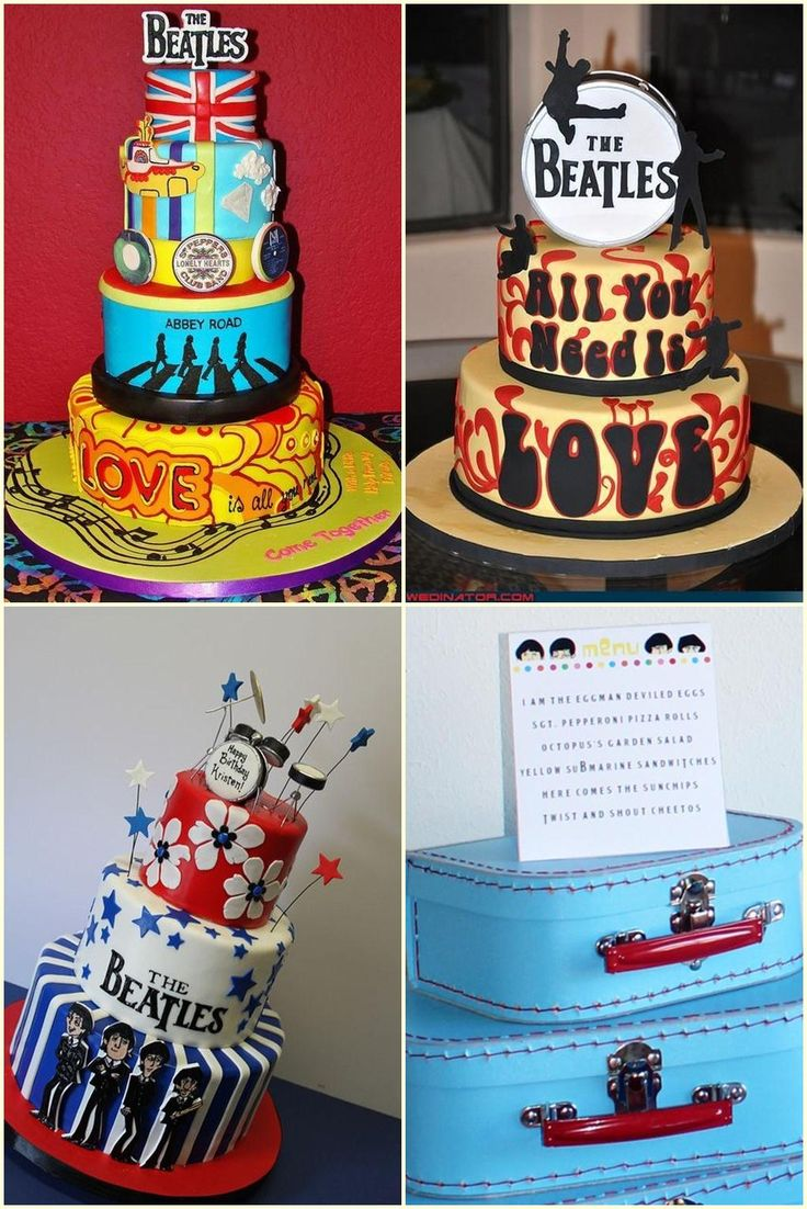 Beatles Party Cake Ideas
