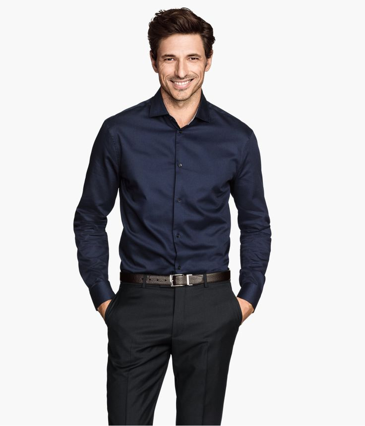 Dark Blue Mens Shirt | Is Shirt