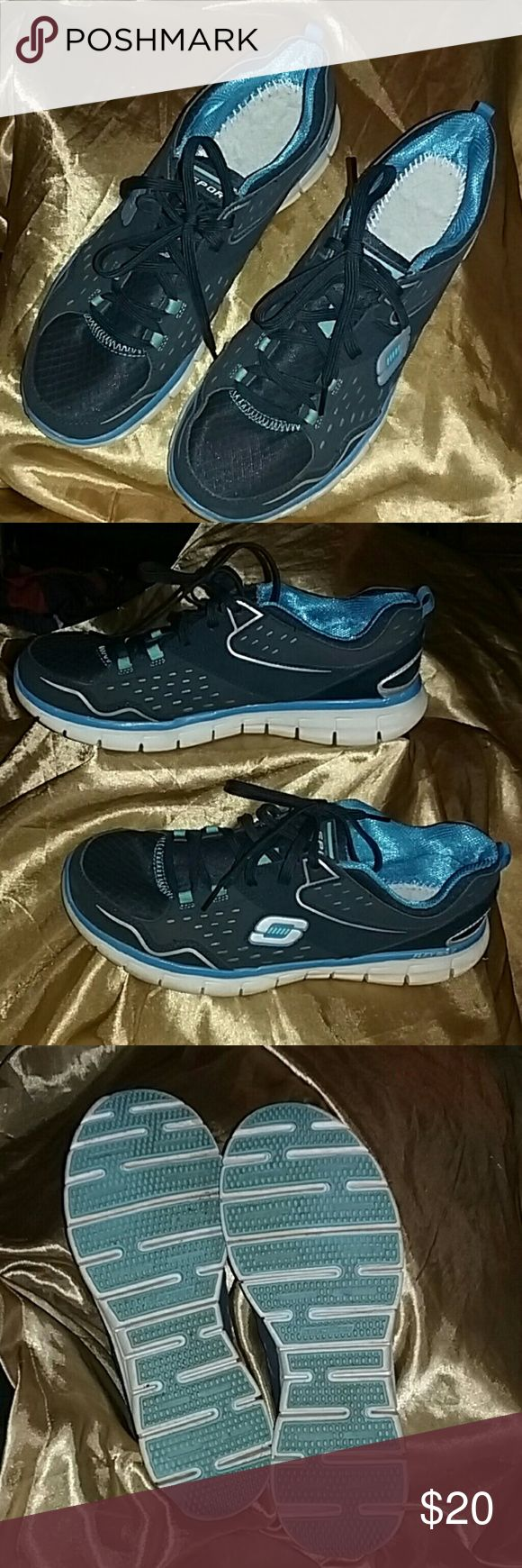 Men's Skechers Tennis Shoes Worn once or twice like new no insoles Skechers Shoes Sneakers