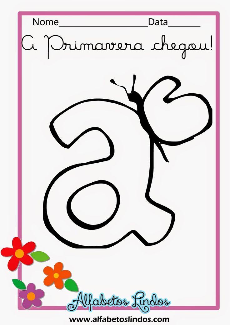 ALFABETOS LINDOS: Alfabeto de primavera com borboletas para colorir