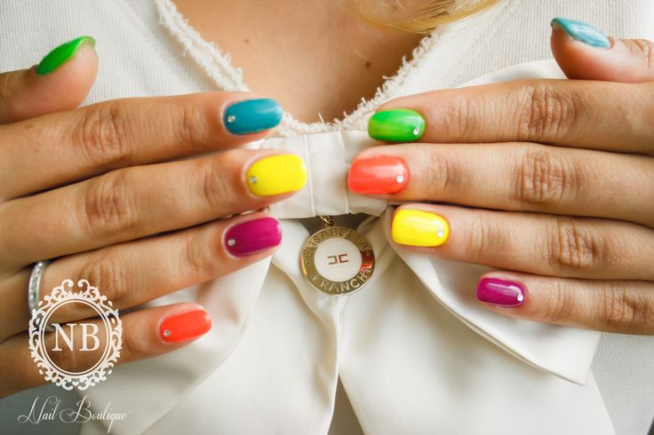 Colored nails by Nail Boutique