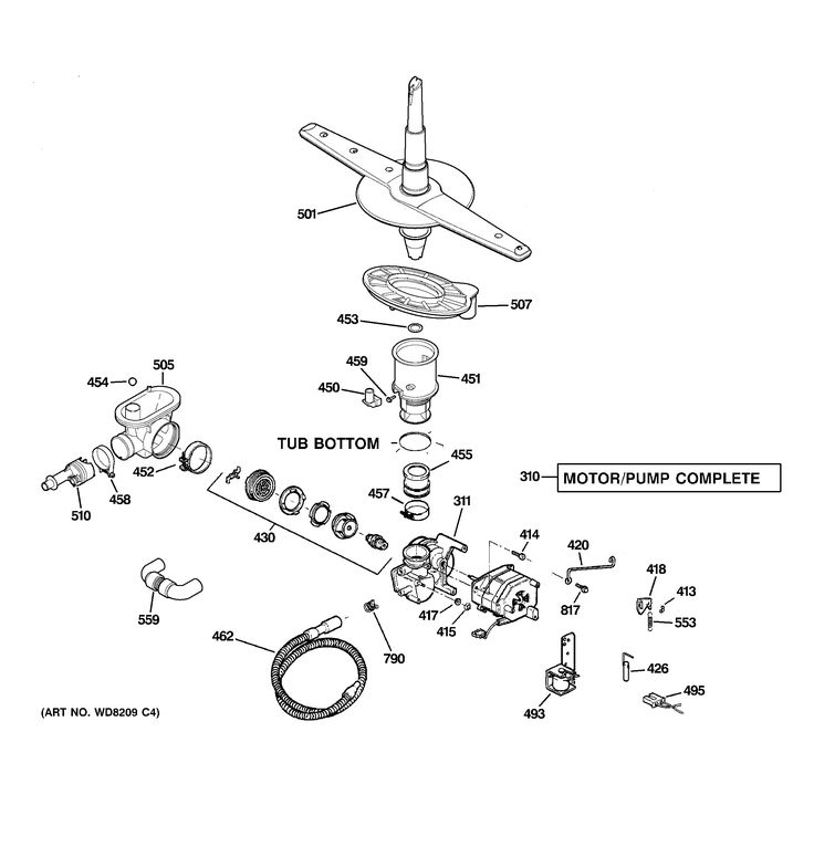 hotpoint dishwasher parts | Hotpoint Dishwasher model # HDA2100N10WW