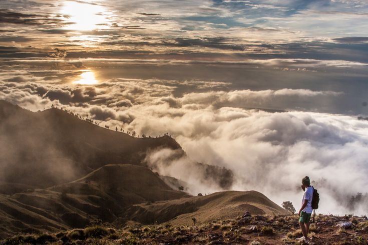 the top of Mount Rinjani