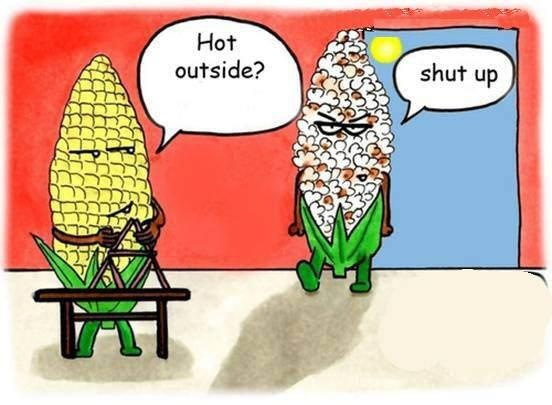 that would be so unfortunate. i would hate to be corn.