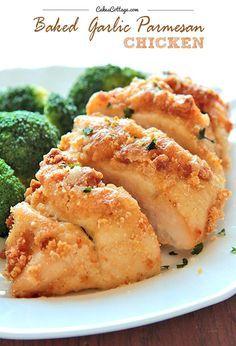 Baked Garlic Parmesan Chicken--Good eats! I love baked chicken!