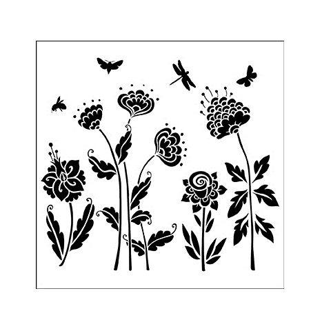 """The Crafter's Workshop 6""""x6"""" Stencil - Flying Garden ..."""