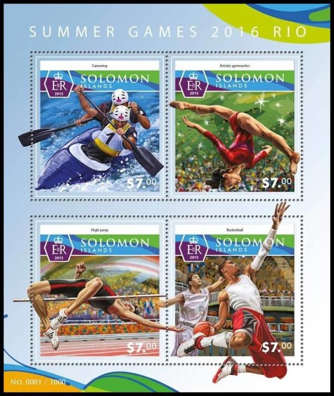 Solomon Islands Rio 2016 Olympic stamps
