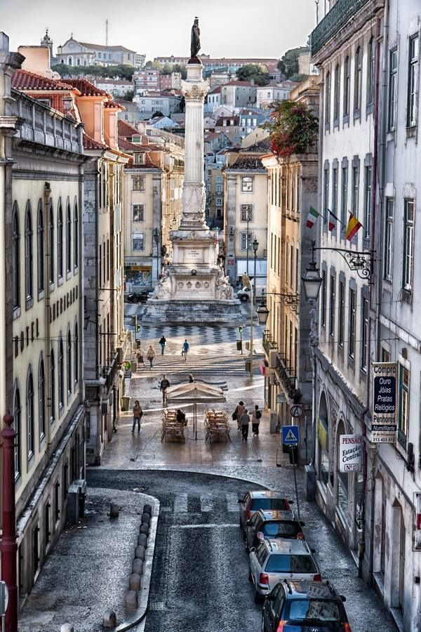 downtown Lisbon, via 500px, by Jorge Franco