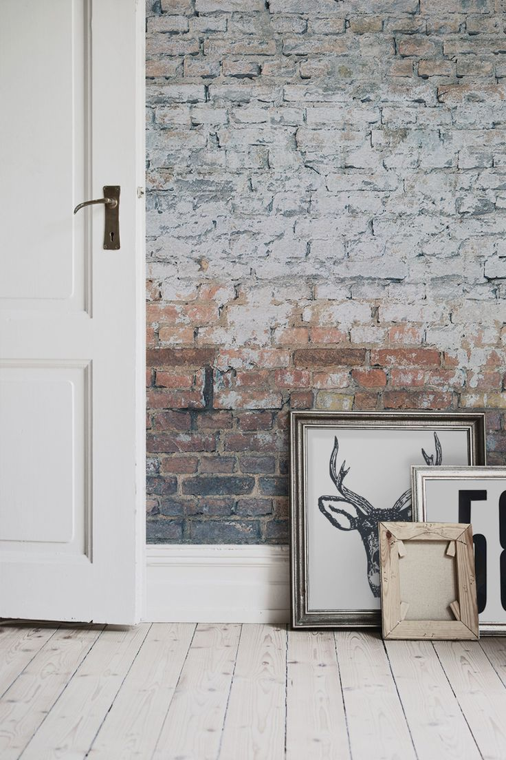 Love exposed brick walls? Get the look with this brick effect wallpaper design. Bringing together an industrial charm with a contemporary feel, this brick wallpaper works a dream with white Scandi inspired interiors.