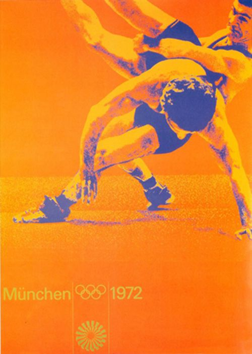Olympic Games Munchen / Wrestling / Poster / 1972
