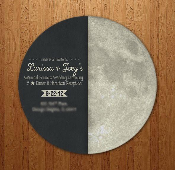 Autumnal Equinox Wedding Invite Front by Troy David Millhoupt/Troy David Designs