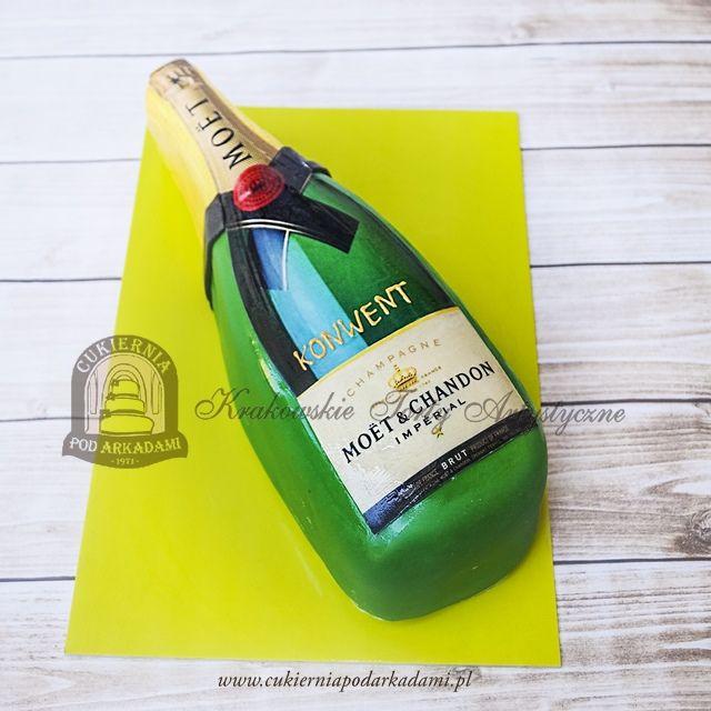159BA Tort butelka szampana Moet Chandon Brut IMPERIAL. Champagne bottle cake - Moet Chandon Brut IMPERIAL.