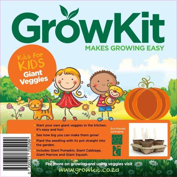 GrowKit Giant Veggies for kids