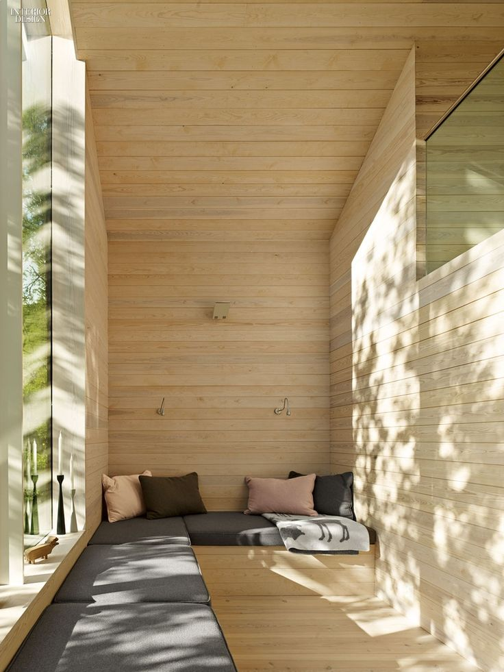 Reiulf Ramstand Architects clad a weekend house near Hol, Norway, with local pine. Photography by J ames Silverman.
