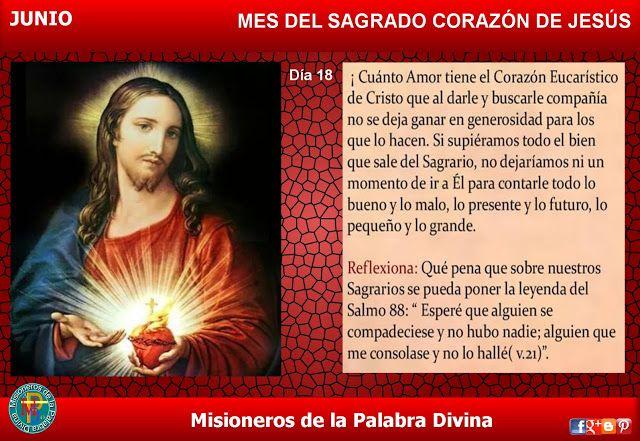 Misioneros de la Palabra Divina: MES DEL SAGRADO CORAZÓN DE JESÚS - DÍA 18