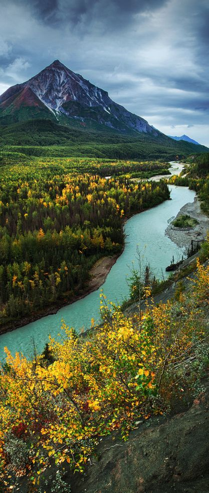 Matanuska River, Alaska, USA                                                                                                                                                                                 More