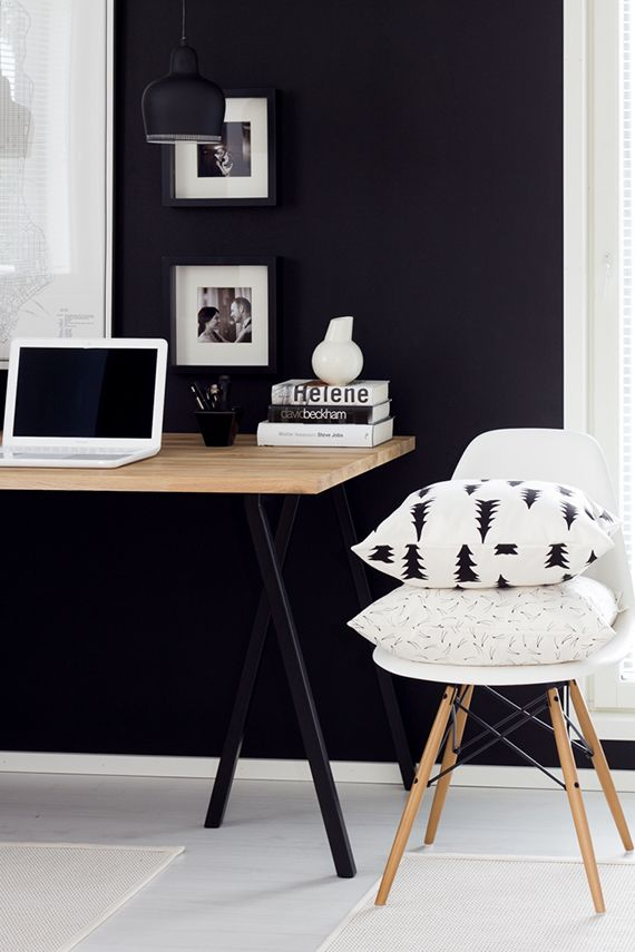 Best 25+ Black office ideas on Pinterest | Home office bedroom, Black decor  and Black and white office