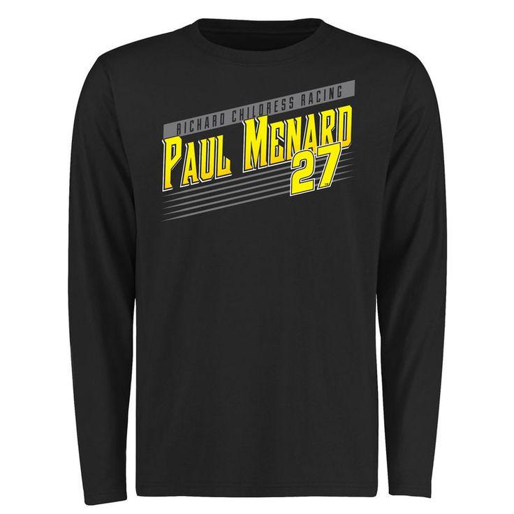 Paul Menard Crank Shaft Long Sleeve T-Shirt - Black