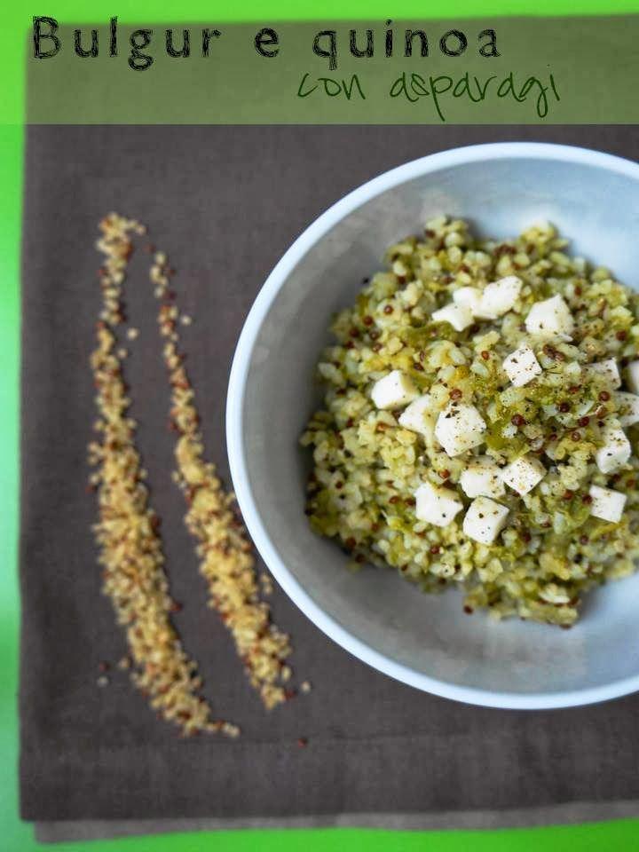 Bulgur e quinoa con asparagi e feta (Marco Bianchi docet)