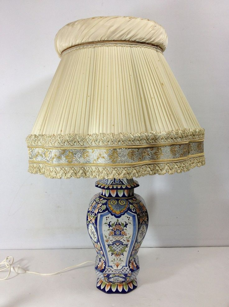 potiche pied de lampe en faience de rouen ebay faience. Black Bedroom Furniture Sets. Home Design Ideas