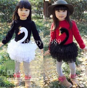 Wholesale Korean baby girl winter outfit pettiskirt tutu skirt style long sleeve dress swan dress, Free shipping, $10.3-11.4/Piece   DHgate