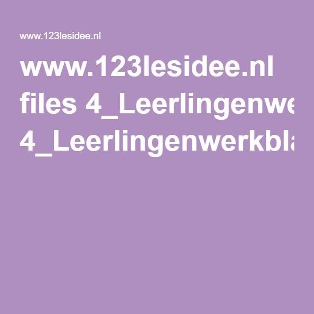 www.123lesidee.nl files 4_Leerlingenwerkbladen.pdf