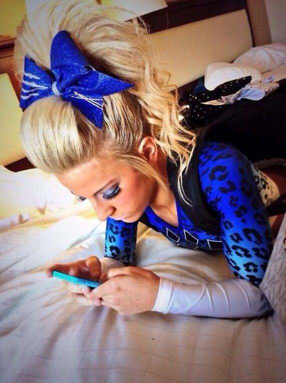 cheer athletics cheer hair !!