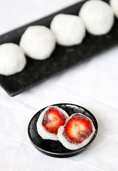 strawberry-daifuku-mochi-recipe/ Asian Desserts Recipe, Daifuku Mochi ...