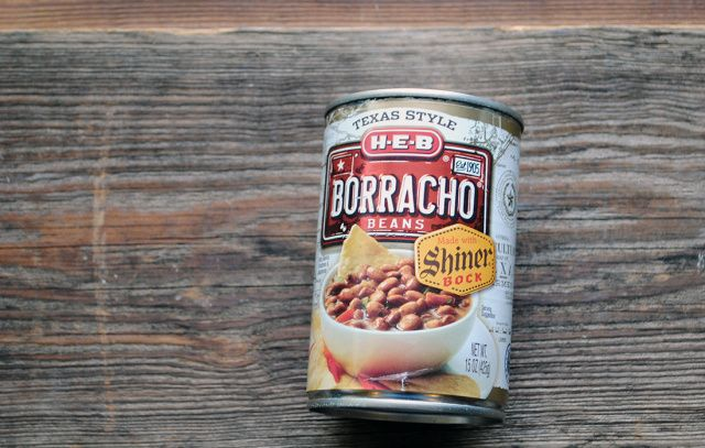 H-E-B's borracho beans, made with Shiner beer. Photo by Dave Thomas