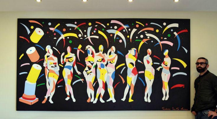 Title ''9 Muses'',acrylic on canvas... #9muses #teodosio #teodosiosectioaurea #acrylic #greece #abctraction #greekart #greekartist #painting #art  #greece