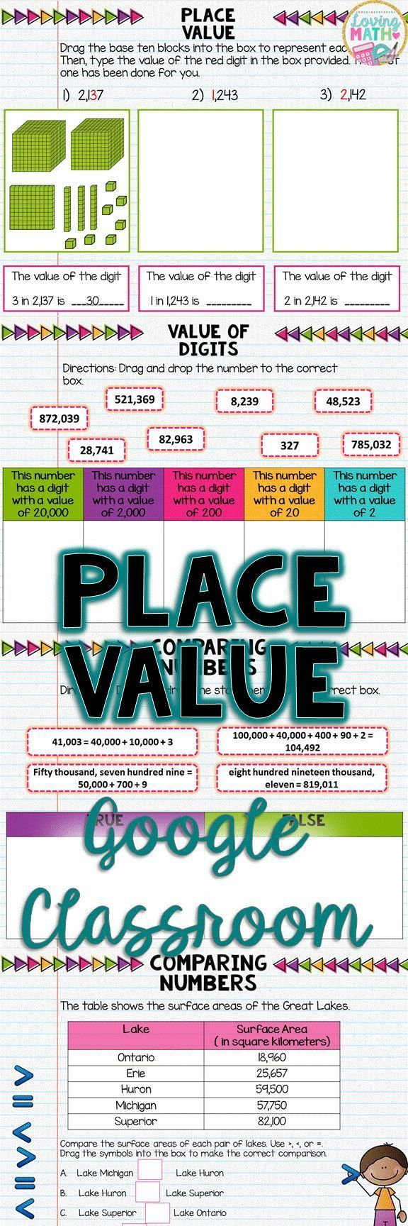 4th Grade Place Value For Google Classroom Digital Math Centers Fourth Grade Google Classroom Place Values Word Problems [ 1728 x 576 Pixel ]