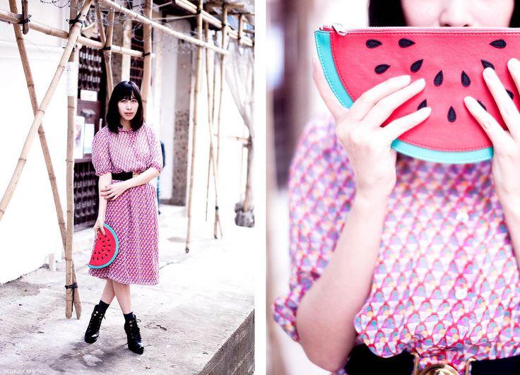 Standard Vintage shoot. Dress - Standard Vintage. Clutch - c/o Monki. Belt - Tania's. Socks - M Boots - Kurt Geiger. http://www.styleslicker.com/2012/02/12/hk-visual-diary-standard-vintage-part-3/
