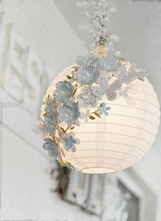 ikea-runde-papierlampe-dekoriert-blumen (Cool Crafts Creative)