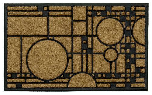 http://www.houzz.com/photos/22652275/Frank-Lloyd-Wright-Coonley-Playhouse-Doormat-craftsman-doormats