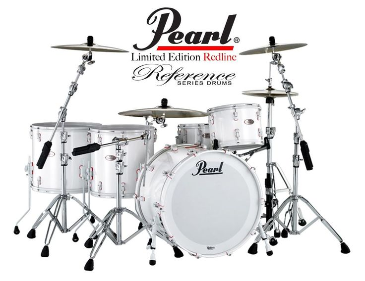 Pearl reference Redline Limited Edition 4pcs Drum Set + Nomad ZEP 24 Drum Cases #PearlReferencRedlineNomadZEP24DrumCaseSet