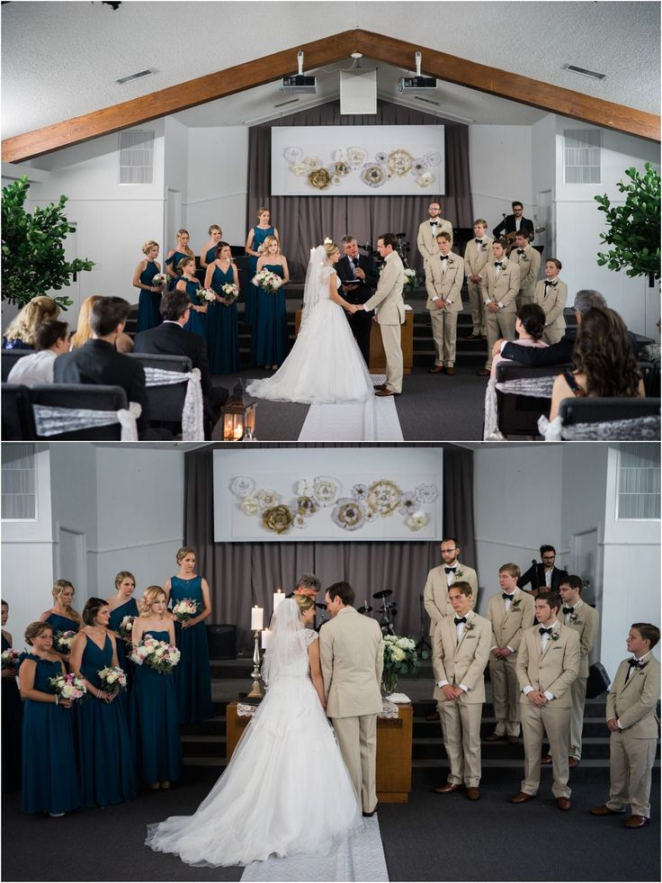 A Beautiful Church Wedding With Accents Of Candlelight And