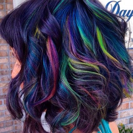 Oil Slick Hair Color for Brunettes. Really would love to do this