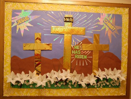 Sunday School Bulletin Board Ideas | ... decorating ideas easter bulletin boards classroom ideas religion