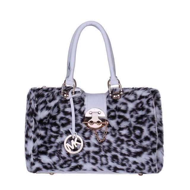 Share Michael Kors - Michael Kors Fur Leopard Hair Lock Large Grey Satchels $69
