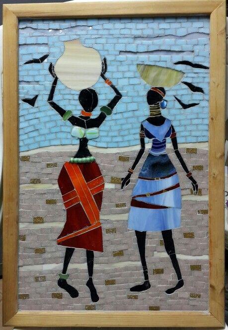Stunning #mosaic ladies               #mosaic #mosaicpeople