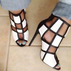 New Fashion Contrast Color Dress Sandals