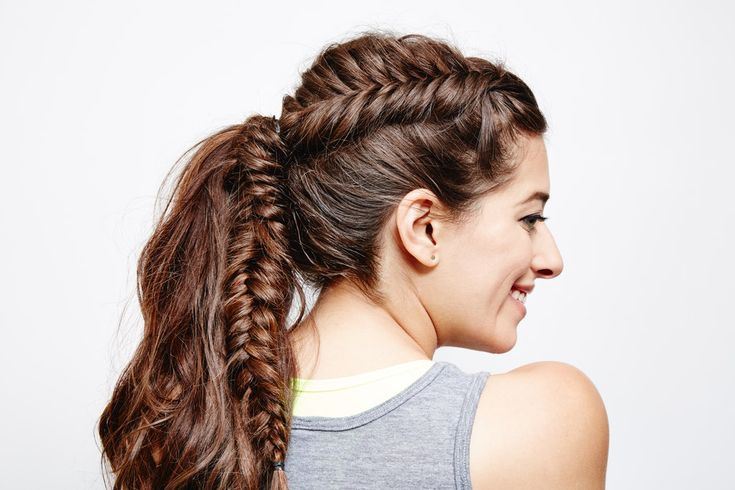 Try this DIY French Fishtail Ponytail During Your Next Trip to the Gym!
