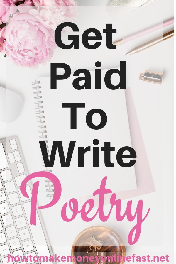 Get Paid To Write Poetry | Side Hustle Ideas | Make money writing
