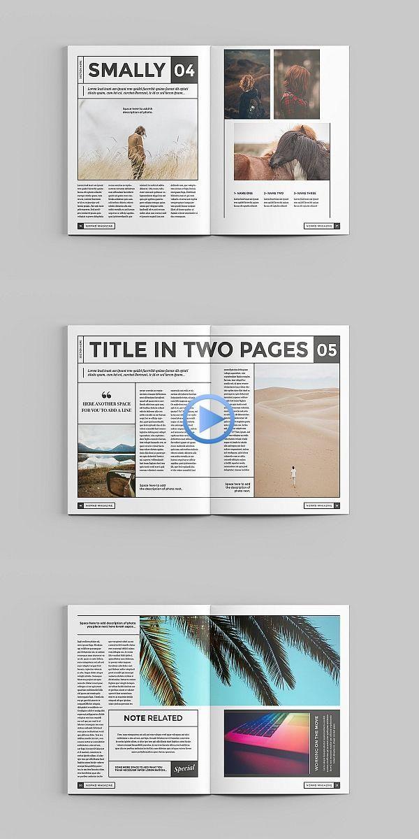 Nomad Magazine Template Design Layouts De Livros Layouts De Revistas Diagramacao De Texto